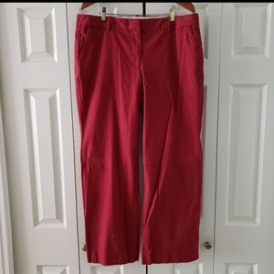 J. Crew Cranberry Red Stretch Chinos 16 Short